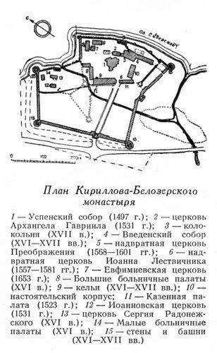 Генплан Кирилло-Белозерского монастыря