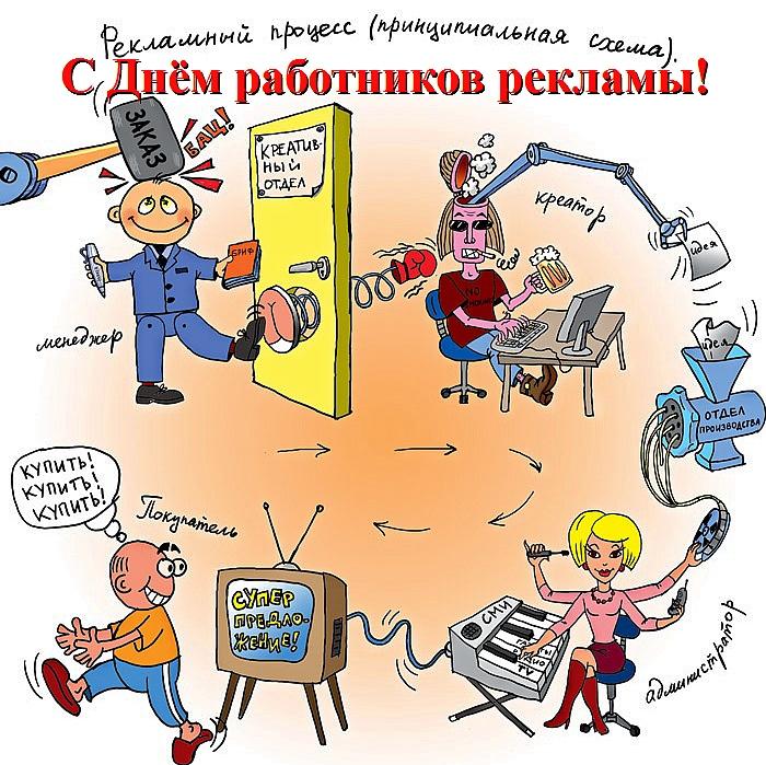 Открытки. С днем работников рекламы открытки фото рисунки картинки поздравления