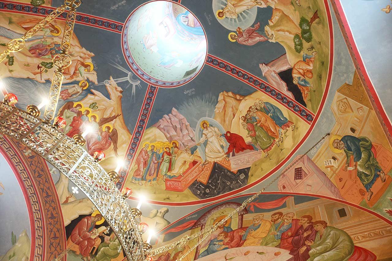 Роспись главного купола (21.05.2014)