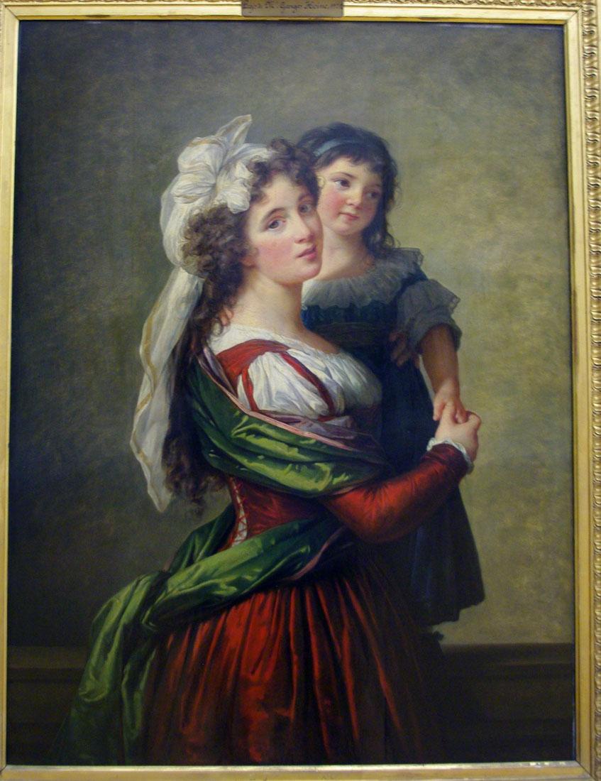 Элизабет-Луиза Виже-Лебрён. Портрет маам Руссо с дочерью.