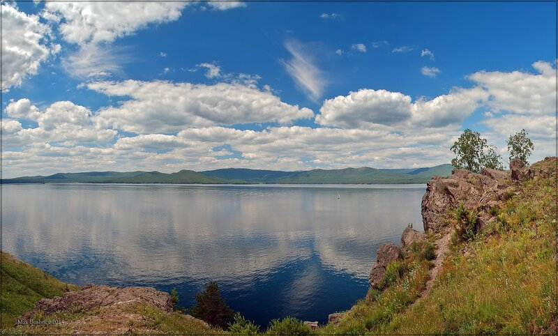 На озере Тургояк
