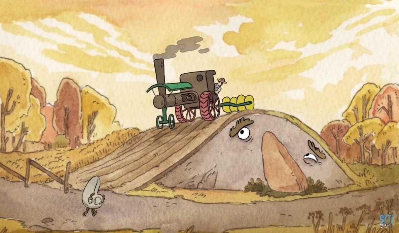 гора пахота трактор