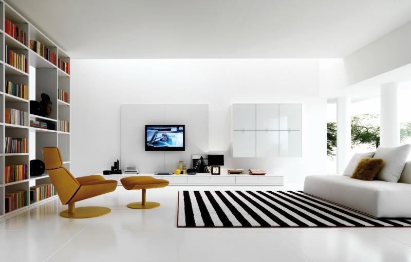 Белый цвет в интерьере гостиной, фото 15