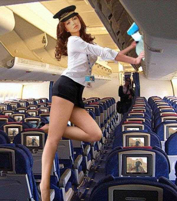 Sexy stewardess girls — photo 15