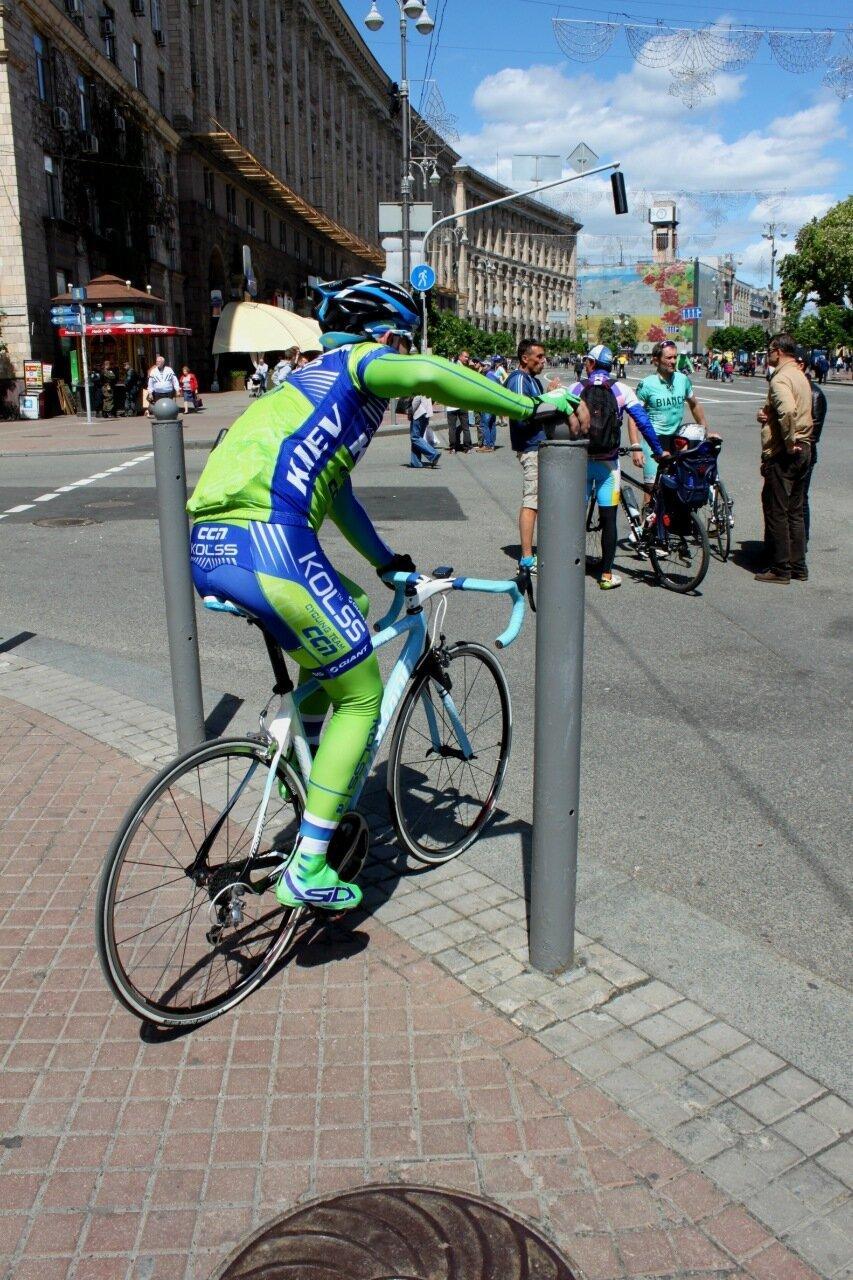 Велосипедист на Крещатике