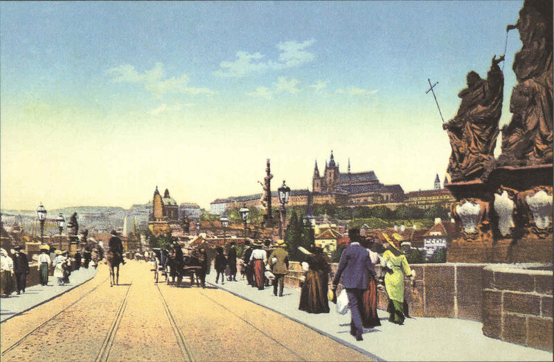 6. Карлов мост и вид на Градчаны. ~ 1900 год
