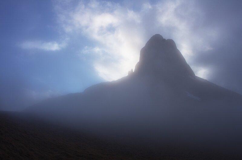 Западная воротина в тумане