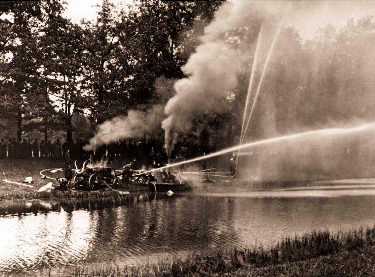 1911. Учения Царскосельской Пожарной Команды.