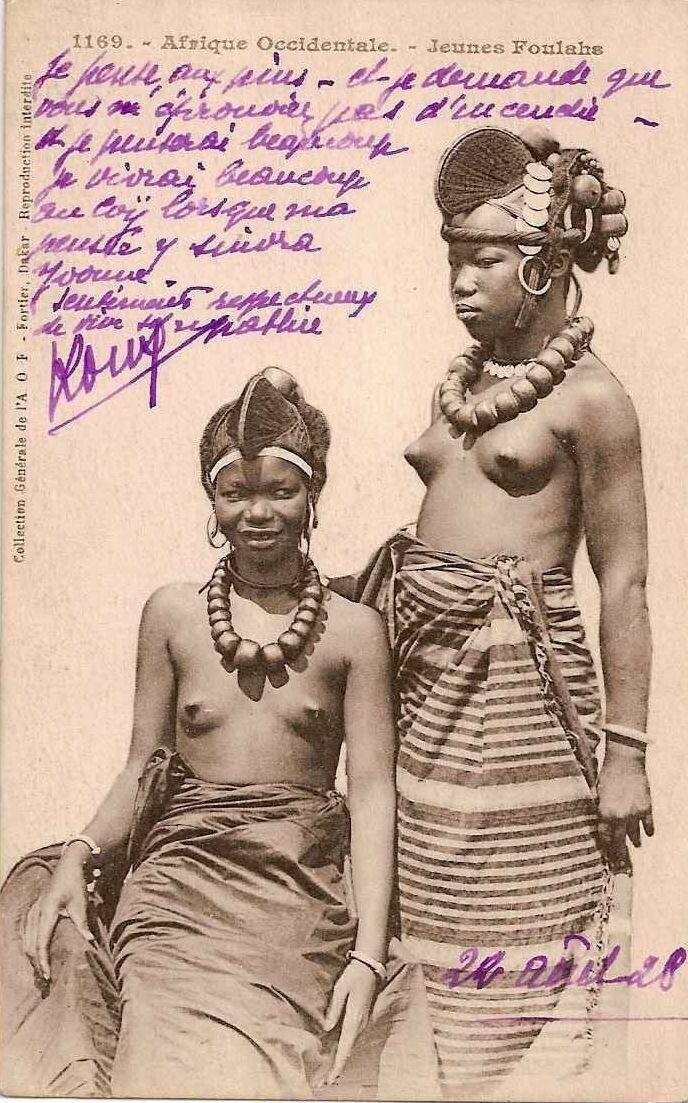 1910. Девушки племени фулах из Французской Западной Африки