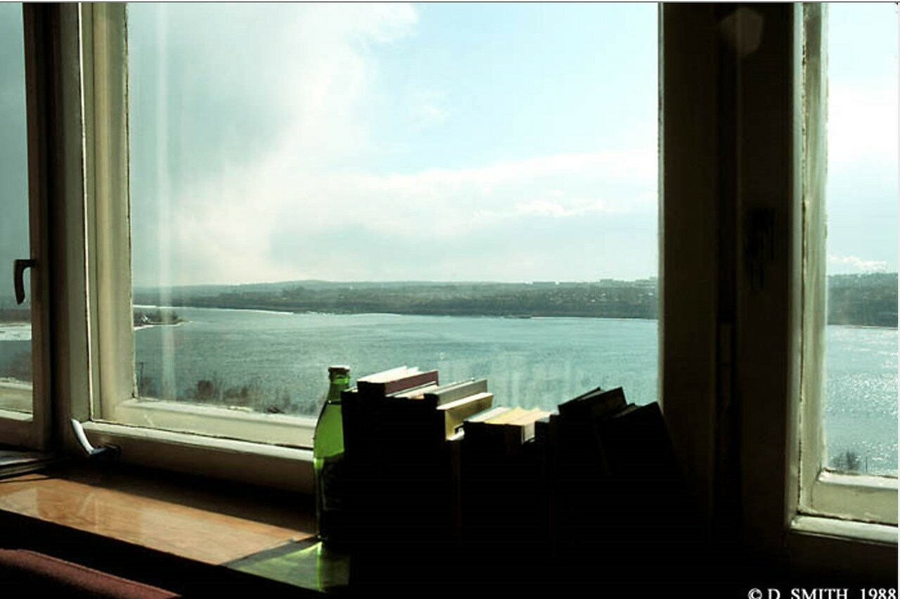 Вид на Ангару из окна гостиницы «Интурист»