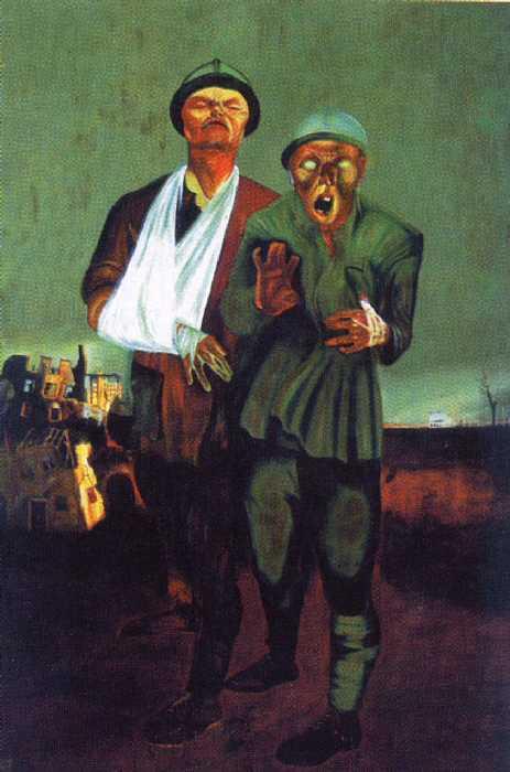 ПИМЕНОВ. Инвалиды войны. 1926. Масло (Новая Москва)