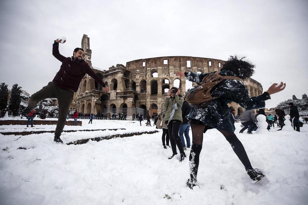 HD европа жизнь города зима холод Франция было и стало