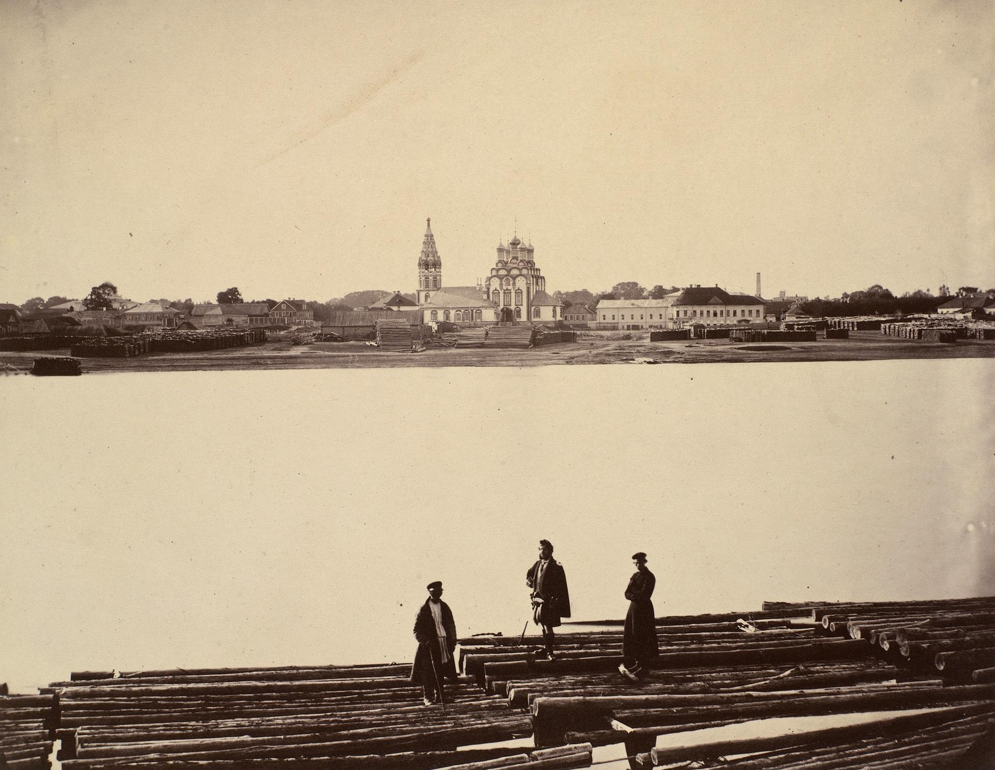 Вид на Хамовники. Церковь Святого Николая