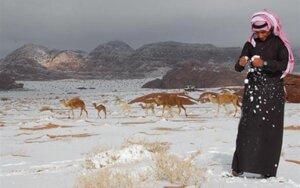 В пустыне пошёл снег; Похолодание на Ближнем Востоке
