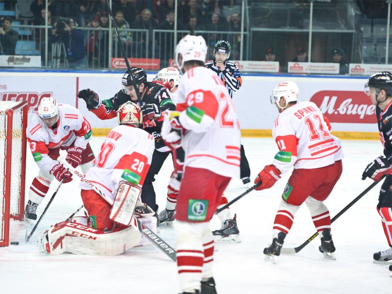 «Авангард» vs «Спартак» 4:1 чемпионат КХЛ 2013-2014 (Фото)