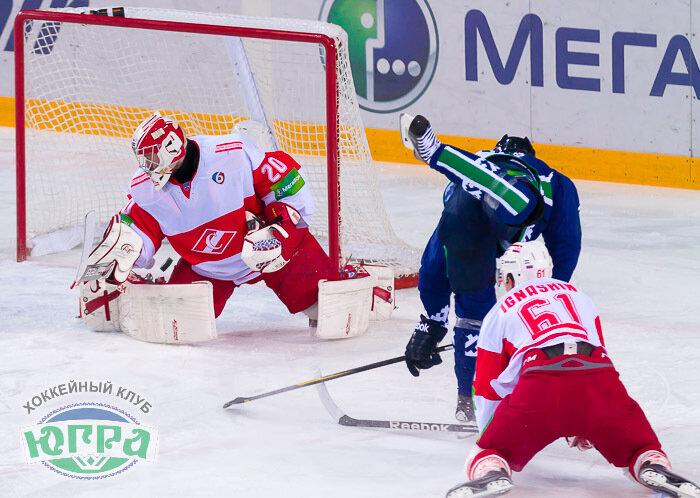 «Югра» vs «Спартак» 5:3 чемпионат КХЛ 2013-2014 (Фото)