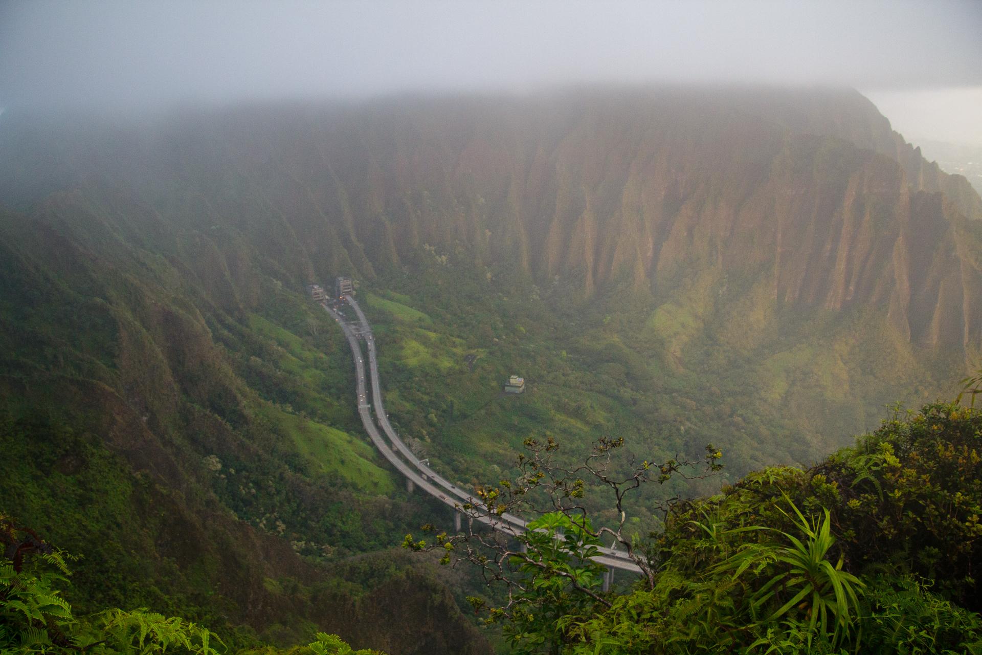 Haiku Stairs aka Stairway to Heaven on O'ahu, Hawaii.