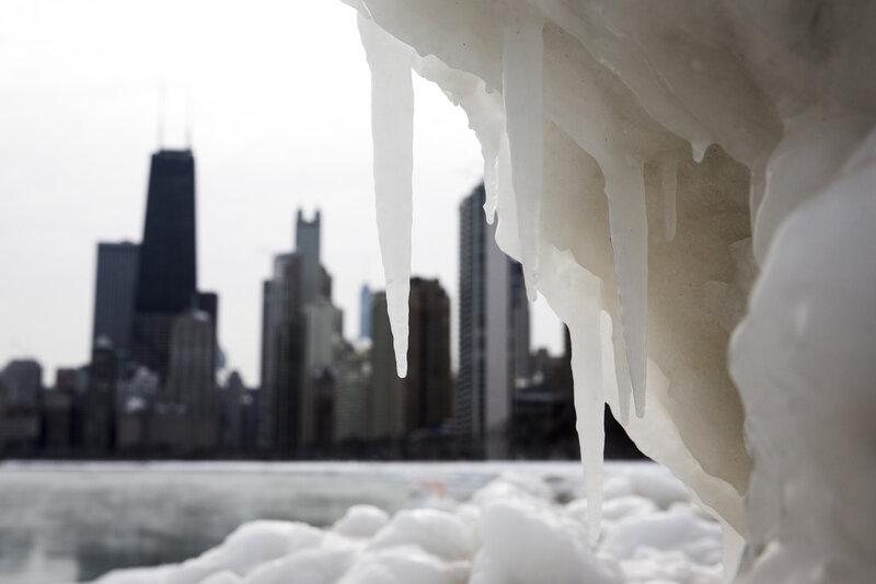 Обледеневший Чикаго (16 фото)