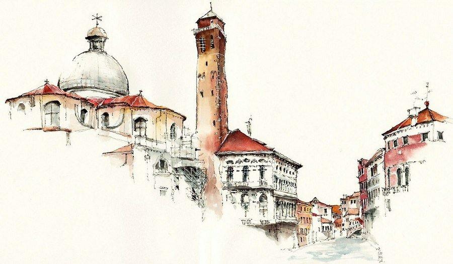 итальянский город рисунок жизни будет