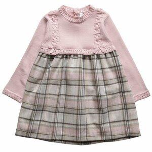 Розовый сон Шотландии -комбинированное платье спицами