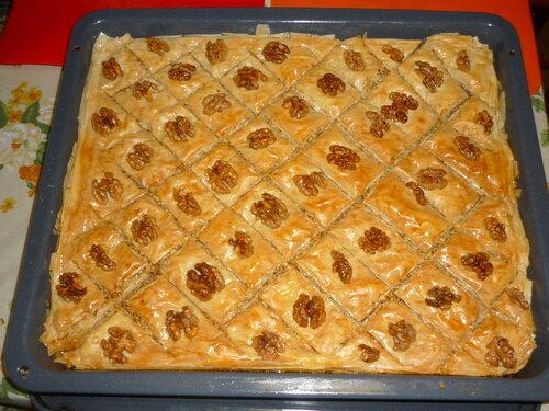 рецепт пахлавы из фило сворачиваем