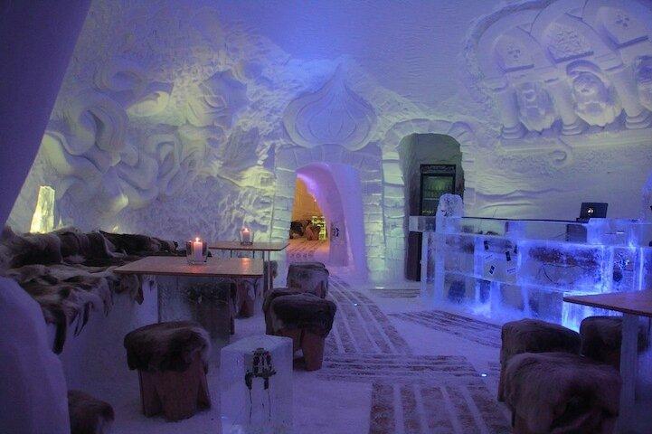 Ледяной отель в Германии