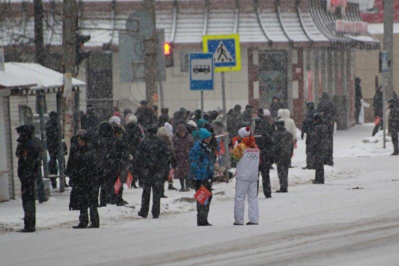 Эстафета олимпийского огня в Кирове: на этапе