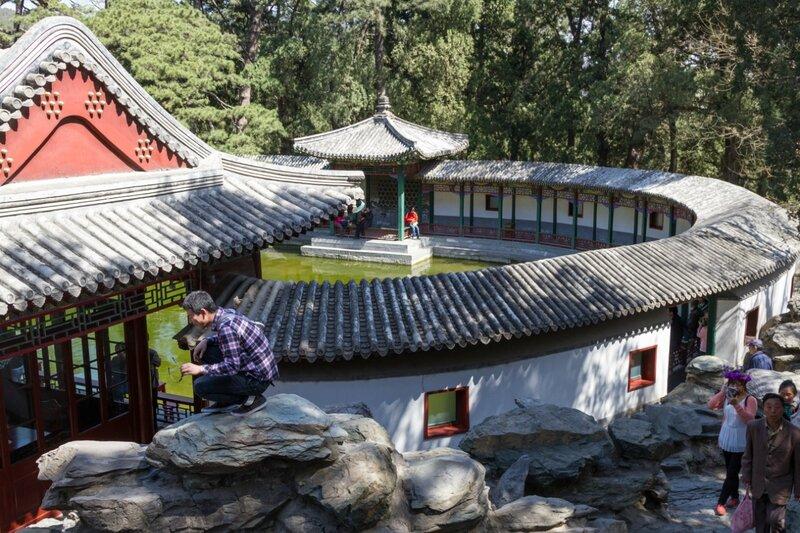 Стена обители Цзяньсинь, парк Сяншань, Пекин