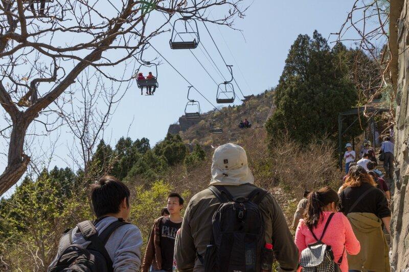 Подъем на гору Сянлу, парк Сяншань, Пекин