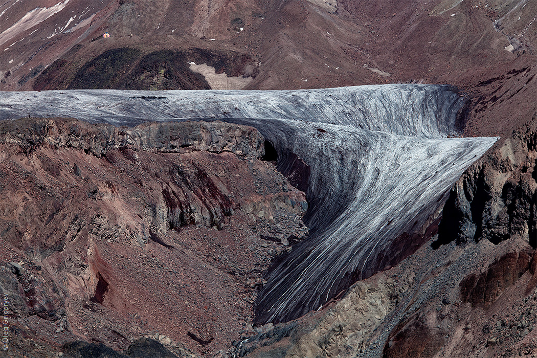 ледник гергети фото