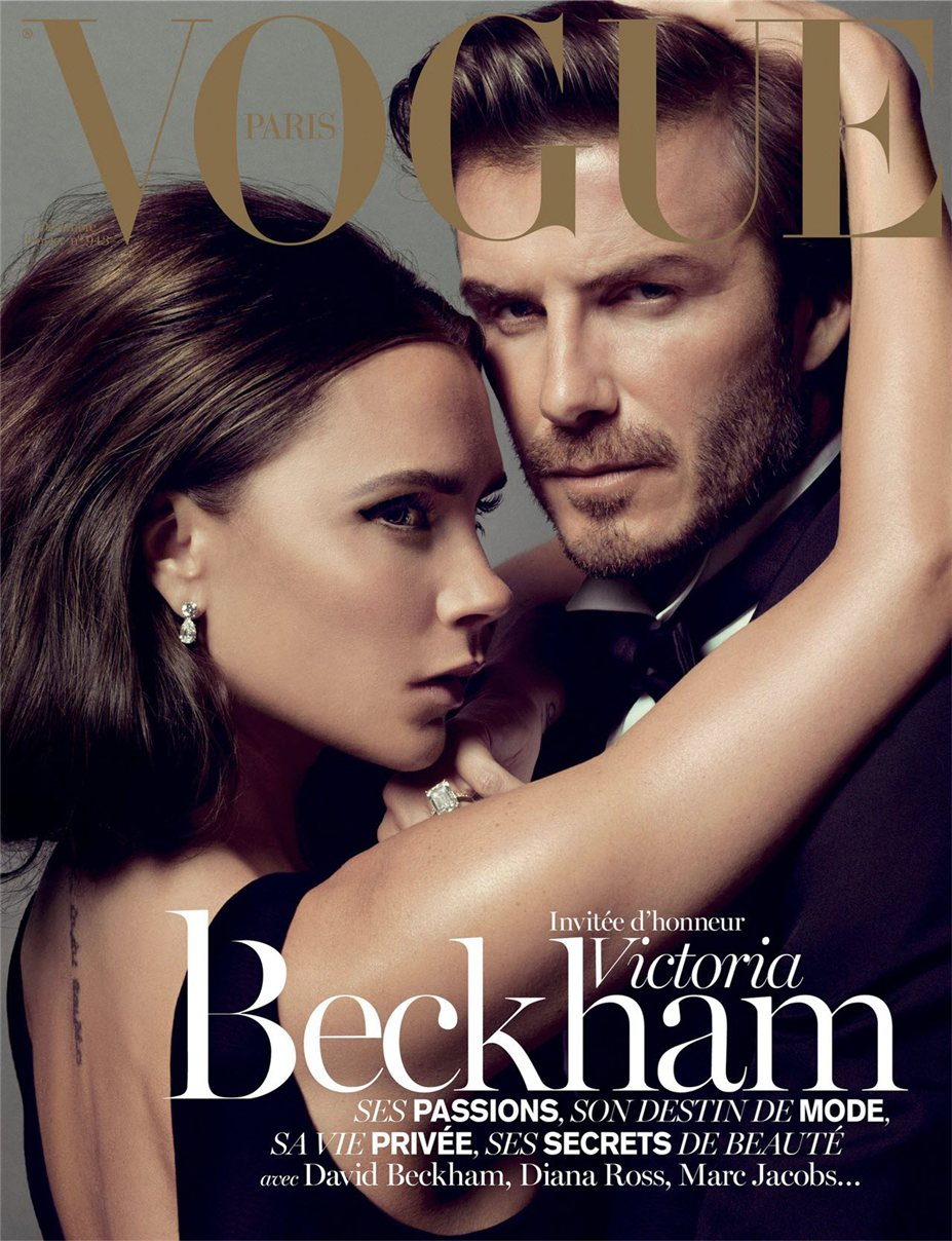 Дэвид и Виктория Бекхэм / Victoria & David Beckham - covers for Vogue Paris december/january 2013/14