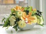 Искусственные цветы ручной работы из глины. Интерьерный букет