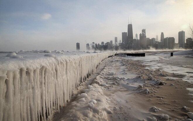Экстремальные холода в Северной Америке