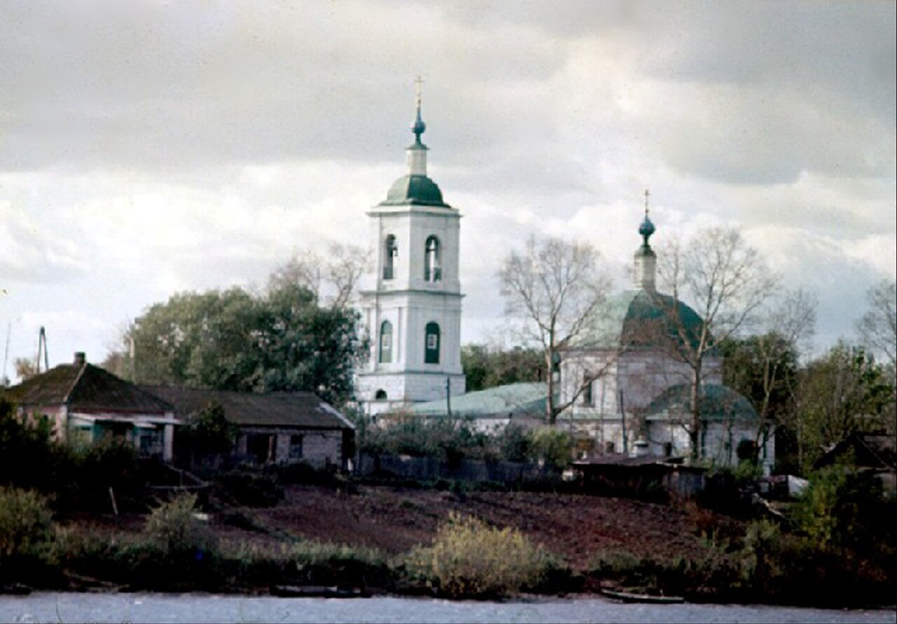 Вид на село Новлянское и церковь