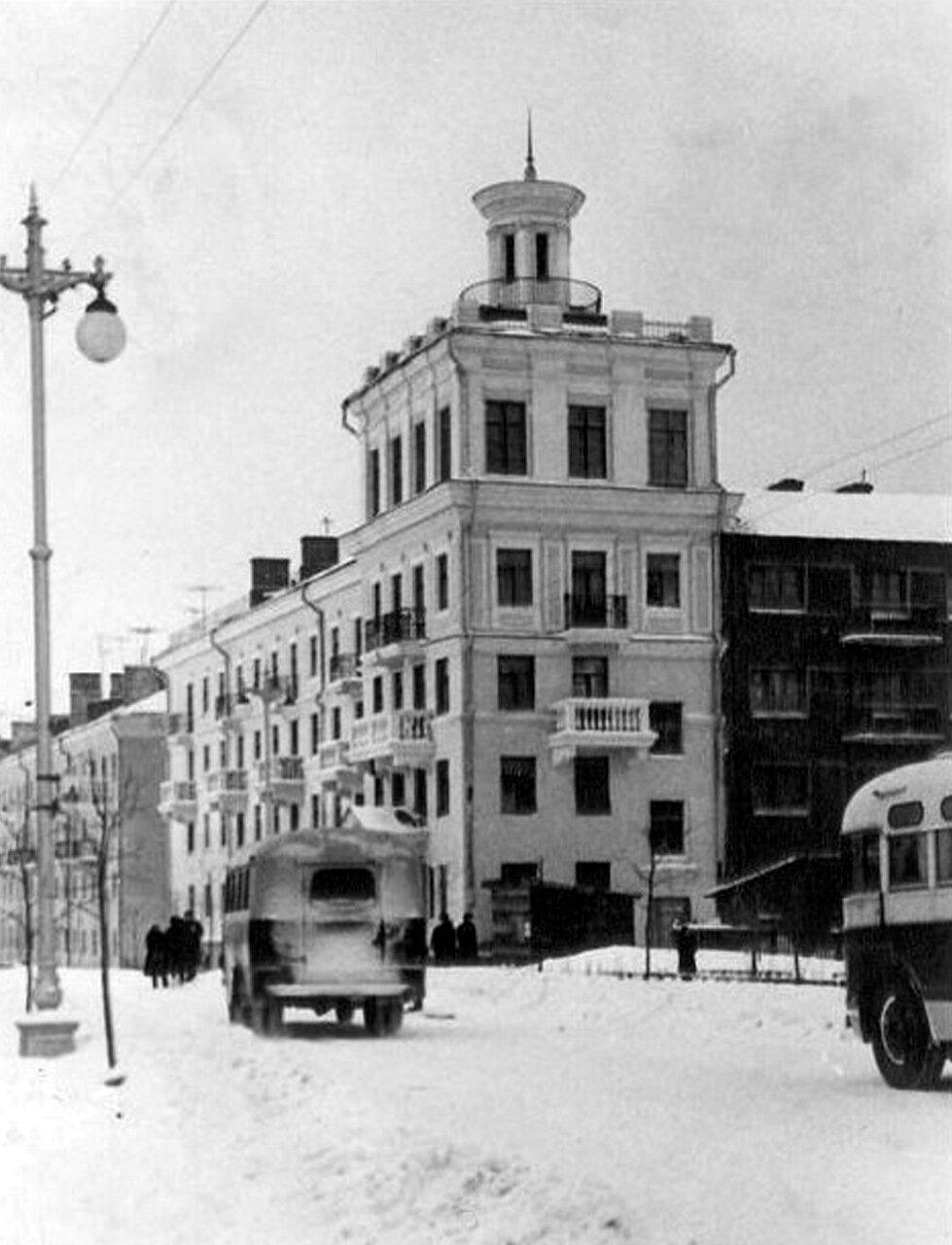 Улица Октябрьская в 50 - 60 годы