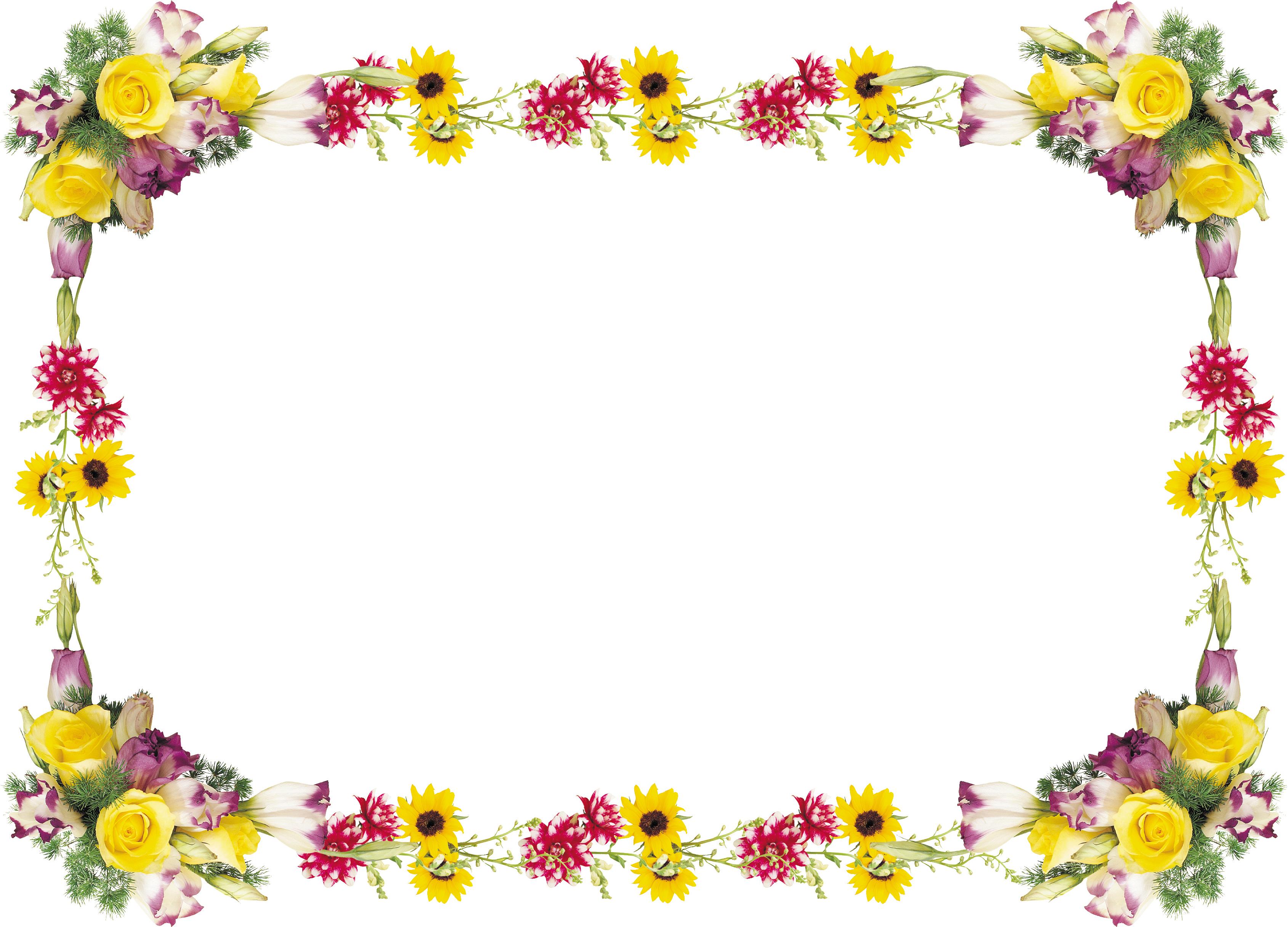 Рамка из цветов с поздравлениями 208