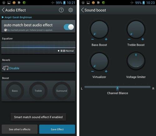 Аудиоэффекты и 4-я панель с дополнительными эффектами