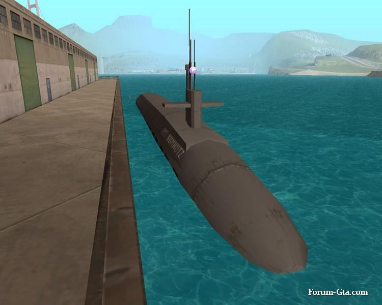 Подводная лодка в GTA San Andreas