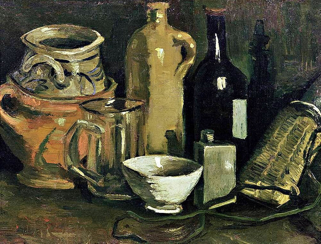 Still Life with Pottery, Beer Glass and Bottle, 1884.jpg