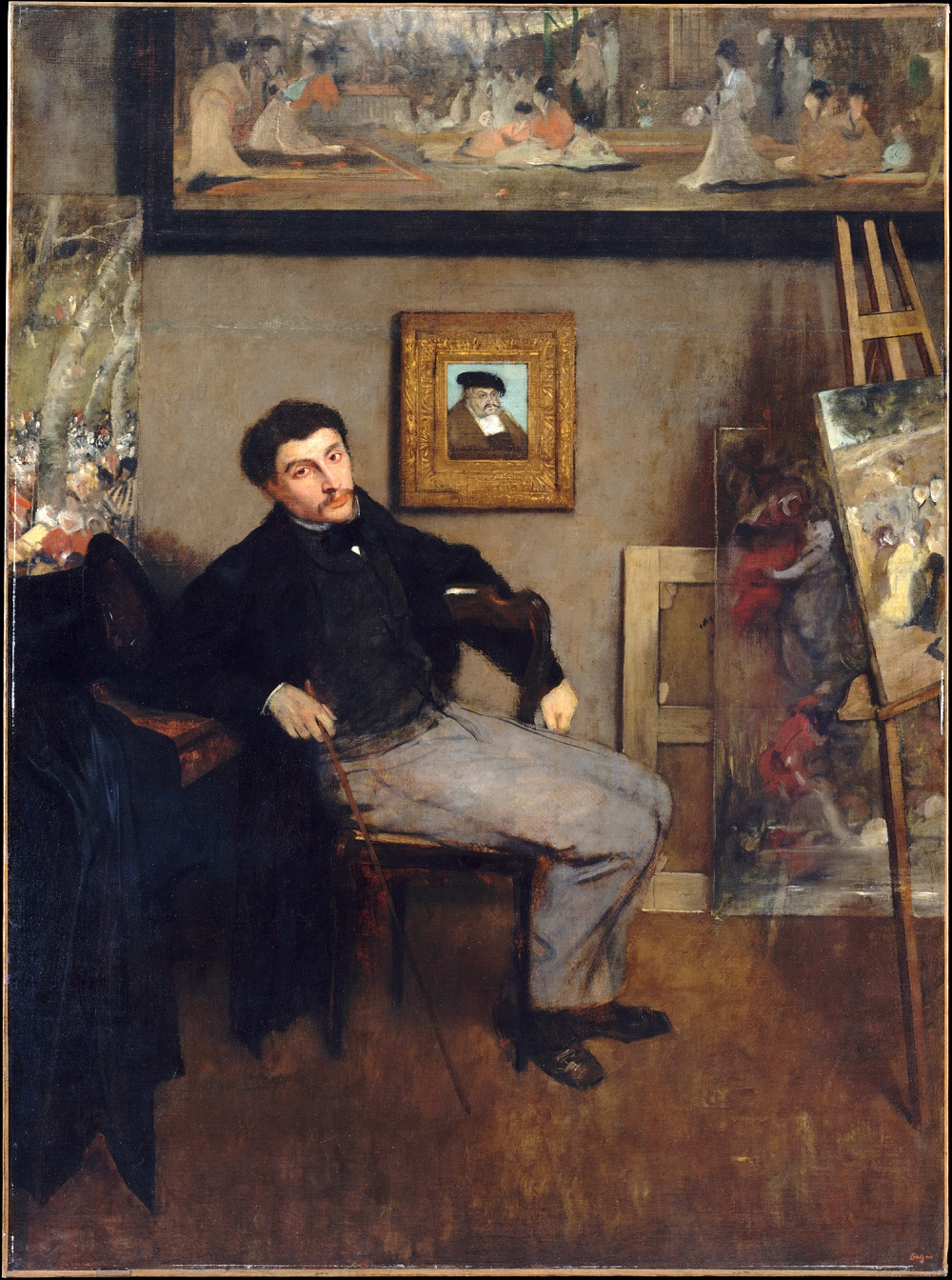 1 Edgar Degas (1834-1913)  Portrait of James Tissot oil on canvas 151.4 × 112 cm Metropolitan Museum of Art.jpg