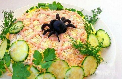 Салат паутинка рецепт и