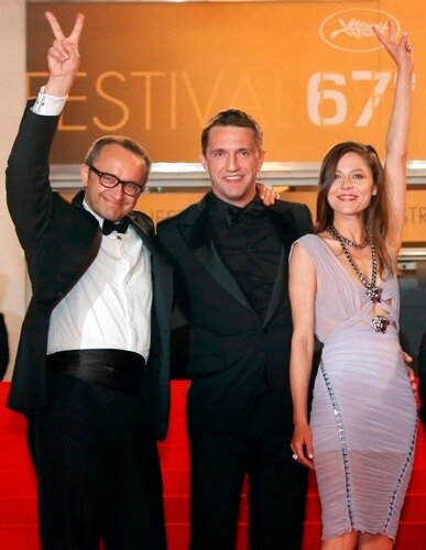Режиссер Андрей Звягинцев, актер Владимир Вдовиченков и актриса Елена Лядова.