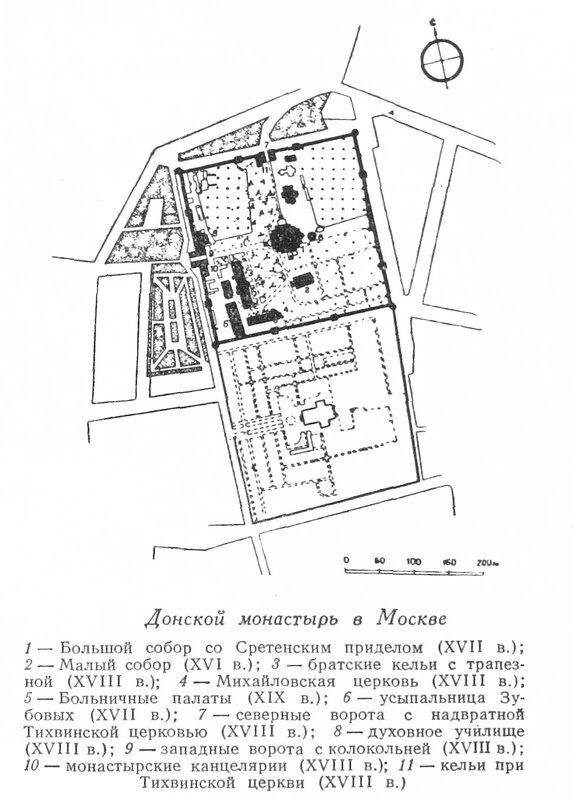 Донской монастырь в Москве, собор, генплан