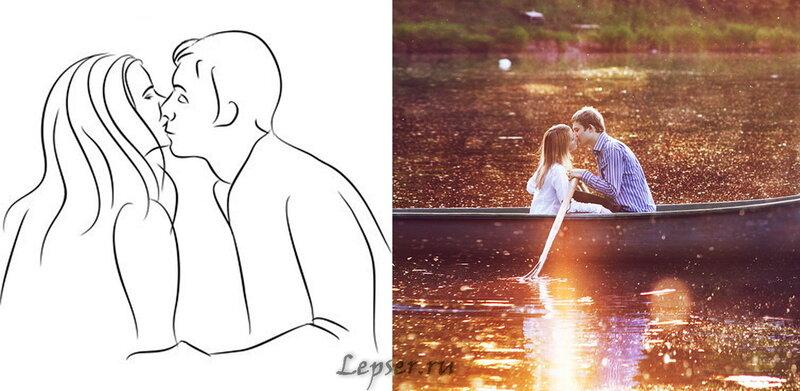 Фотосессия Love Story (40 поз)