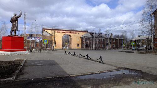 Фото города Инта №6668  Перекрёсток улиц Кирова и Лунина 22.05.2014_13:02