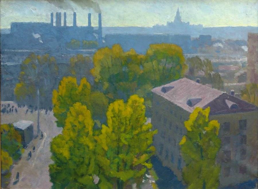 Глебов Федор Петрович (Россия, 1914‑1980) «Осень в Москве на Брянской» 1979.jpg