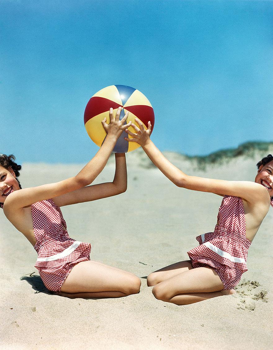 Польская художница вдоволь поиздевалась над старыми американскими фотографиями и улучшила их