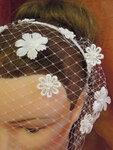 Свадебная вуалетка-ободок ДЖЕССИКА
