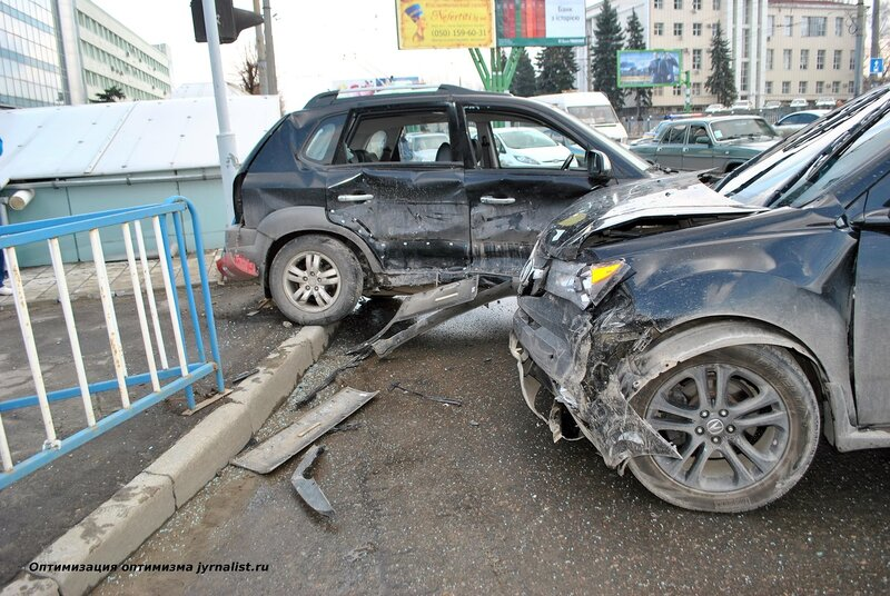 ДТП в центре Луганска