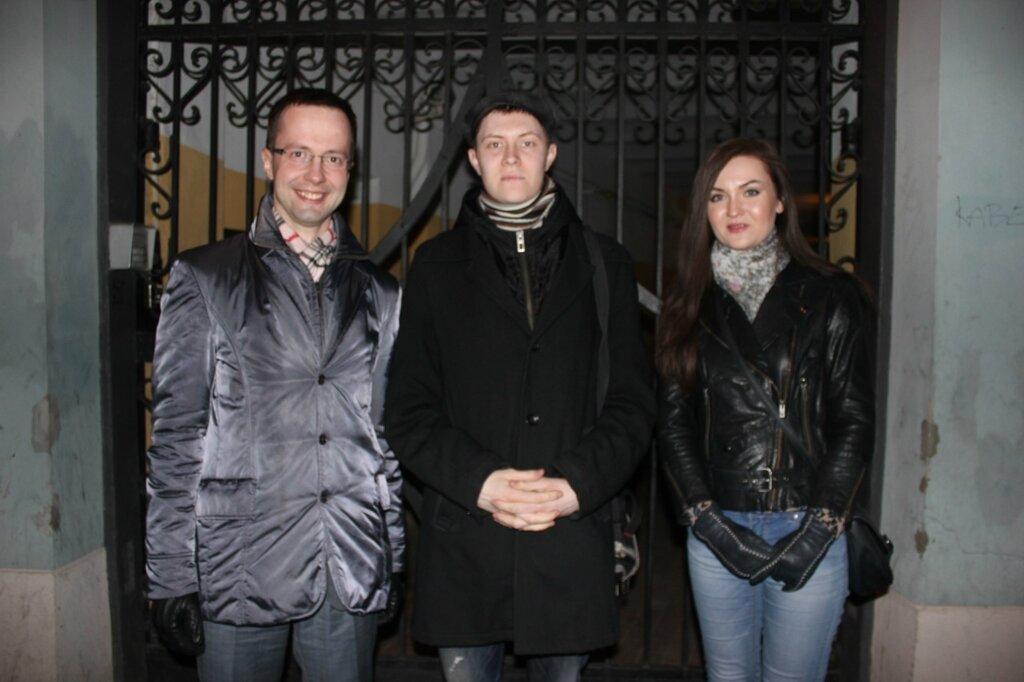 Денис Стяжкин с кандидатами в депутаты в Европарламент